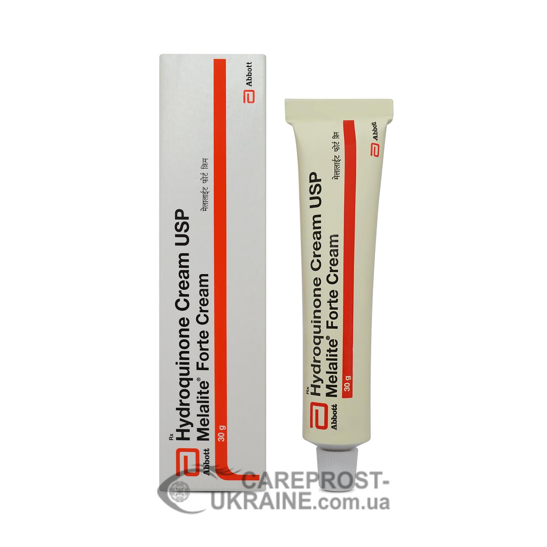 Крем от пигментных пятен Мелалайт Форте с гидрохиноном 4% (Melalite Forte Hydroquinone 4% Cream USP) 30 г