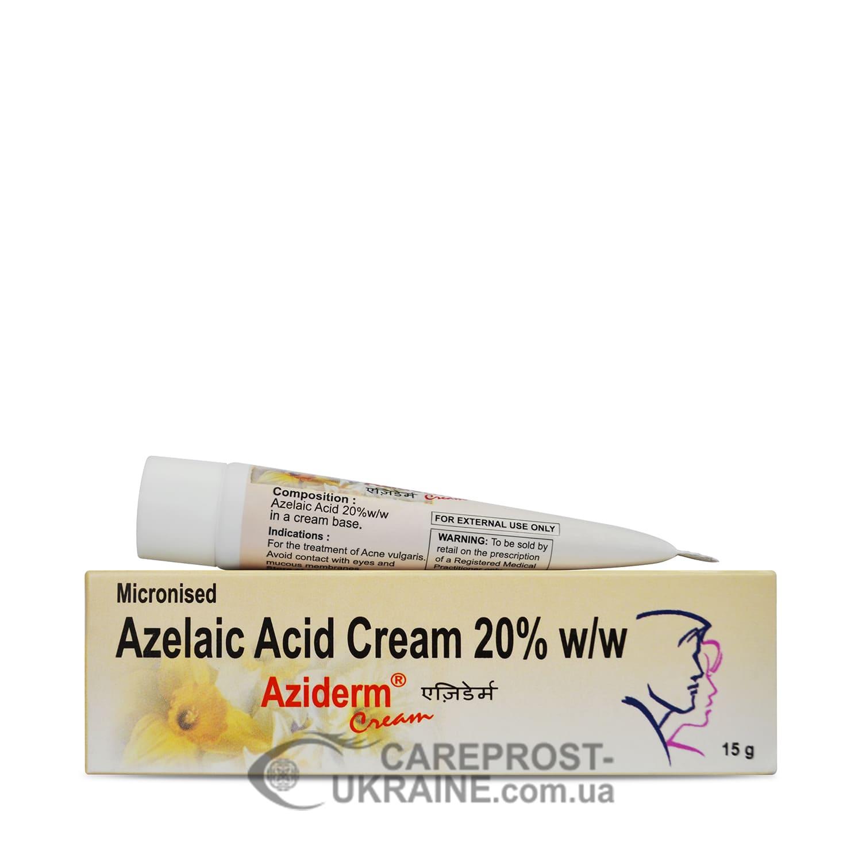 Крем Азидерм 20% (Cream Aziderm 20%) с азелаиновой кислотой, 15 г